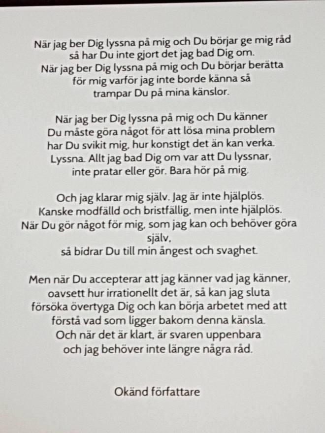 171105 Sorgebearbetning dikt