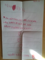 130513 Ett uppmuntrande brev från en liten flicka