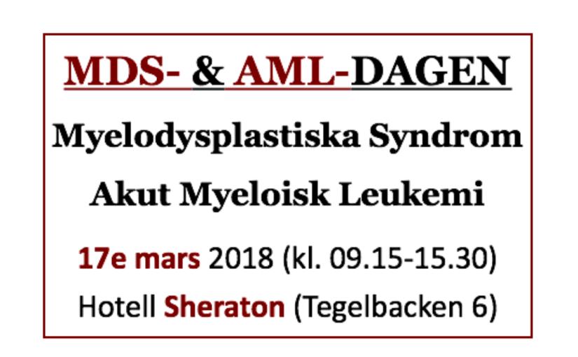 """""""Svenska MDS- & AML-dagen2.0"""""""
